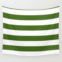 Simply Stripes in Jungle Green Wall Tapestry