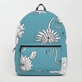 Sweet daisies on turquoise blue Backpack