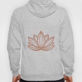 Lotus flower outline tattoo, Rose gold foil boho chic floral design Hoody