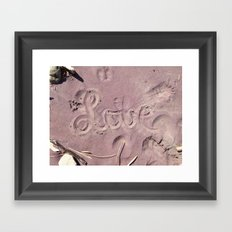 Love in the Sand Framed Art Print