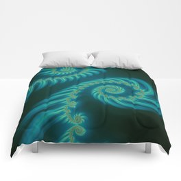 Entering the Vortex - Fractal Art Comforters