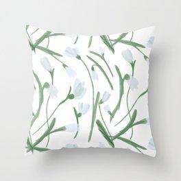 Snowdrops Throw Pillow