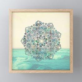 Mandala Mermaid Oceana Framed Mini Art Print