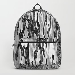 Water Currents Black and White Backpack