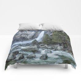 Lower Yosemite Falls Comforters