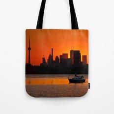 Sunset Sail Ashbridges Bay Toronto Canada Tote Bag