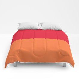 Raspberry Peach Orange Comforters