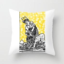 Floral Tarot Print - Strength Throw Pillow