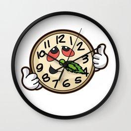 420 WEED CLOCK Cannabis Hemp Leaf Skunk Marijuana Wall Clock