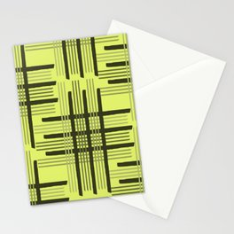 Tartan plaid seamless pattern background in parrot colors  Stationery Cards