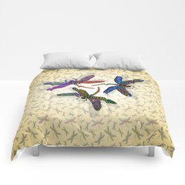 DRAGONFLY CIRCLE 2 Comforters