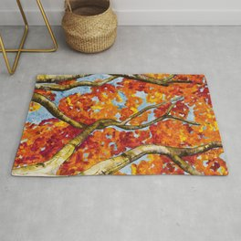 Entwined in Fall Fire Rug