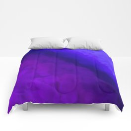 Deep Dark Abyss - Ultra Violet Ombre Abstract Comforters