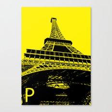 Paris P Canvas Print