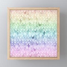 MAGIC MERMAID - PASTEL RAINBOW Framed Mini Art Print
