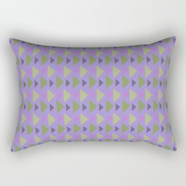 Geometrical purple green hand painted triangles pattern Rectangular Pillow