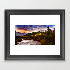 High Mountain River Framed Art Print