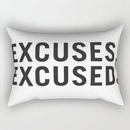 Excuses, Excused. Rectangular Pillow