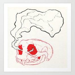 Otterly Dead Art Print