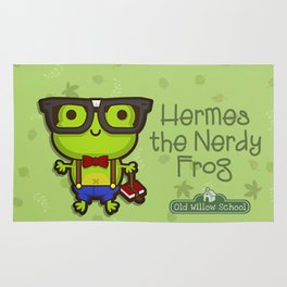 Hermes the Nerdy Frog Rug