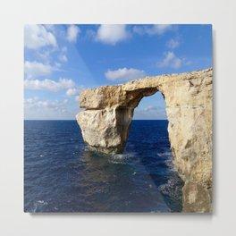 Azure Window Grotto Metal Print