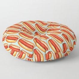 Hot Dog Pattern Floor Pillow
