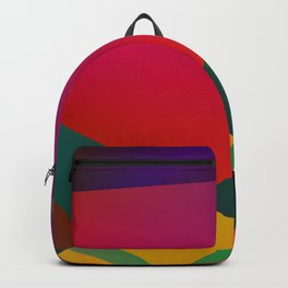 blue green red texture art Backpack