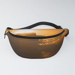 Midsummer time is harvest time of the cereal fields Fanny Pack
