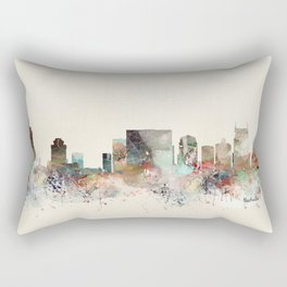 nashville city skyline Rectangular Pillow