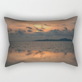 Sunset on the Gulf of Thailand Rectangular Pillow