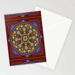 Boho Floral Crest Stationery Cards