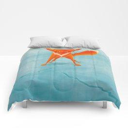 Fox on ice Comforters