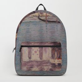 Claude Monet - The Palazzo Contarini, Venice.jpg Backpack