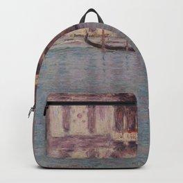 Claude Monet - The Palazzo Contarini, Venice.jpg Backpack