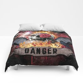 DANGER ROCK SKULL Comforters