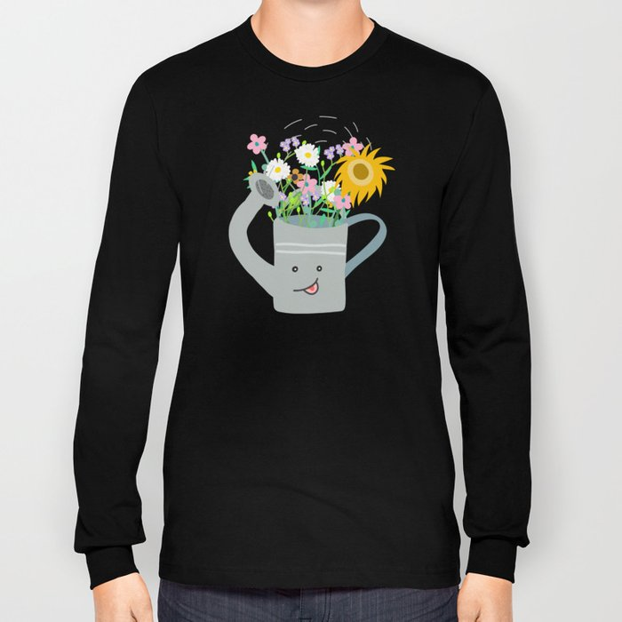 Happy Day- Watering Can Long Sleeve T-shirt