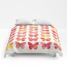 Butterflies Watercolor 1 Comforters