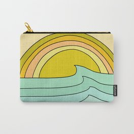 ride rainbows // retro surf soul // art by surfy birdy Carry-All Pouch
