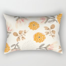 Modern Vintage Orange Blossoms Rectangular Pillow