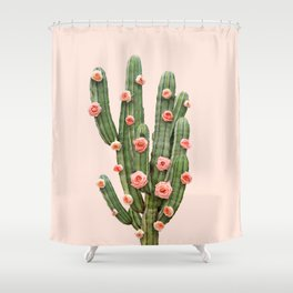 CACTUS AND ROSES Shower Curtain