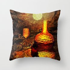 Das letzte Glas Throw Pillow