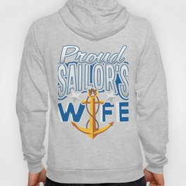 Proud Sailor's Wife Navy Enlisted Hoody