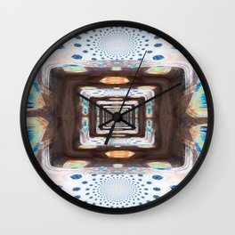 Tunnel of Mirrors Wall Clock