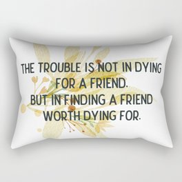 Finding a friend - Mark Twain Collection Rectangular Pillow