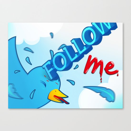 follow me! Canvas Print