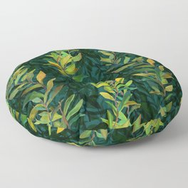 Pond Seaweed Pattern by Robert Phelps Floor Pillow
