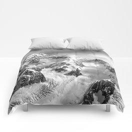 Denali Massif from the Air - Denali & Foraker Comforters