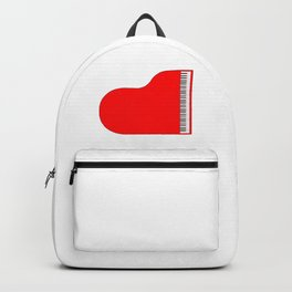 Red Grand Piano Backpack