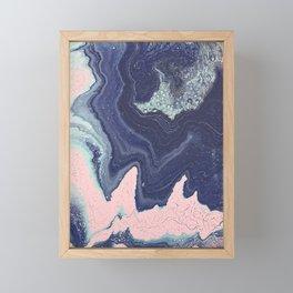 Fluid No. 11 - Geode Framed Mini Art Print