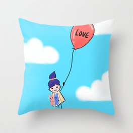 Love is Up Above Throw Pillow